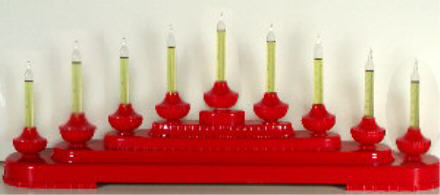 Red Royal Bubble Light Candolier