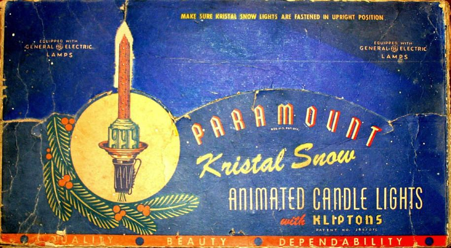 1947 paramount kristal snow animated candles