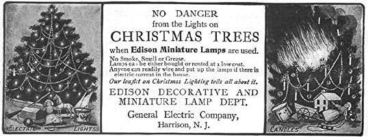 The Ad Refers To A Leaflet Published By The Company Which Included  Instructions On Hand Wiring A Tree For Lights.