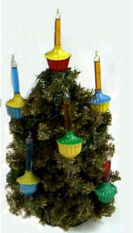 tabletop trees - Bubble Light Christmas Tree