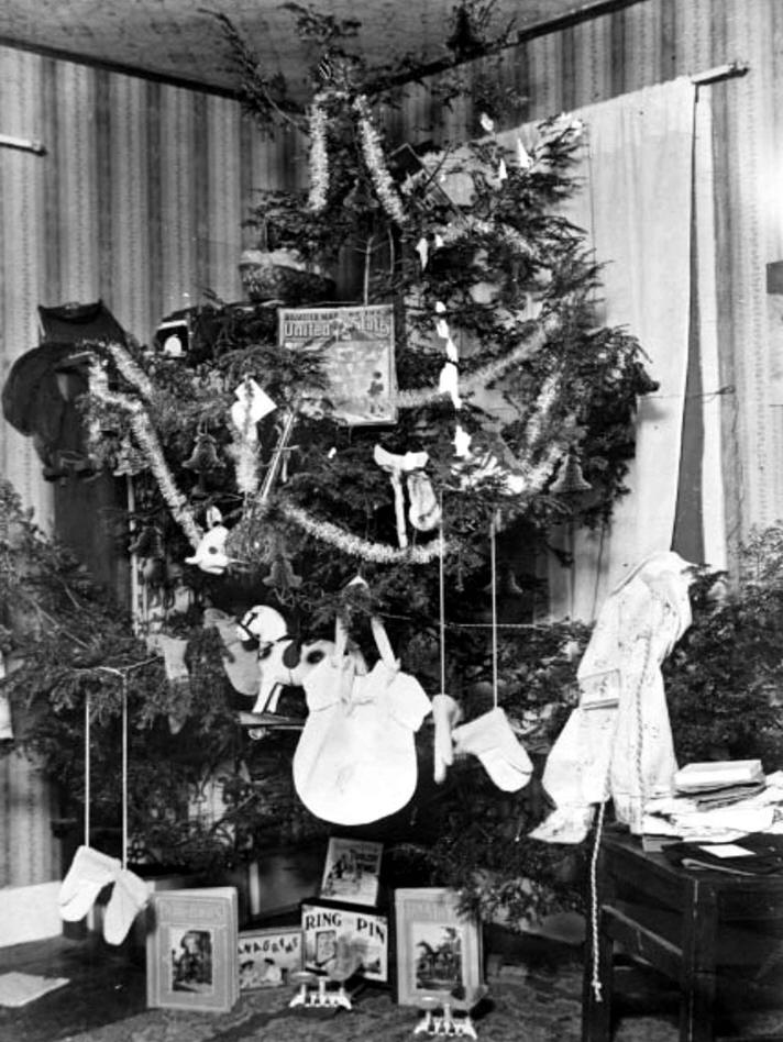 vintage photographs - What To Do With Old Christmas Trees